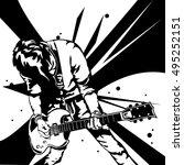 man play guitar | Shutterstock .eps vector #495252151