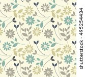cute seamless pattern with... | Shutterstock .eps vector #495254434