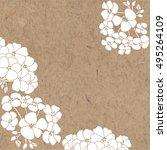 floral monochrome background... | Shutterstock .eps vector #495264109