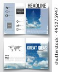 set of business templates for... | Shutterstock .eps vector #495275947
