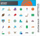 sport vector icons set  modern... | Shutterstock .eps vector #495277015