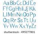 letters of the english alphabet ... | Shutterstock .eps vector #495277801