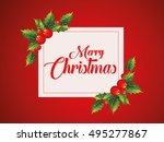 happy christmas day | Shutterstock .eps vector #495277867