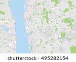 vector city map of liverpool ... | Shutterstock .eps vector #495282154