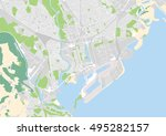 vector city map of cardiff ... | Shutterstock .eps vector #495282157