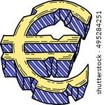 euro sign damaged  vector  | Shutterstock .eps vector #495284251