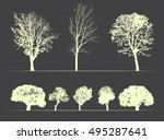 vector trees on soft dark... | Shutterstock .eps vector #495287641