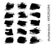 abstract textured strokes... | Shutterstock .eps vector #495291094