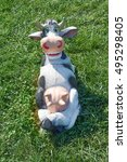 Toy Cow Lying Upside Udder....
