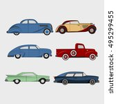 set of retro cars.cartoon icon. ... | Shutterstock .eps vector #495299455