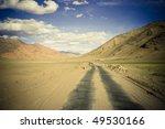 straight road along himalaya... | Shutterstock . vector #49530166