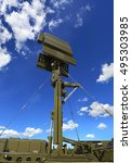 Small photo of All-around antenna for air defense complex on a mobile platform
