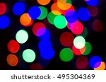 bokeh many colors  background... | Shutterstock . vector #495304369