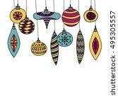 christmas ornaments christmas...   Shutterstock .eps vector #495305557