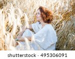 portrait of the middle aged... | Shutterstock . vector #495306091