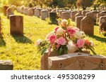 Roses In A Cemetery With...