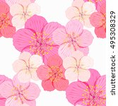 seamless pattern of cherry is... | Shutterstock .eps vector #495308329