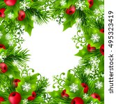 christmas banners with fir... | Shutterstock .eps vector #495323419