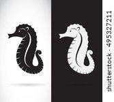 Vector Of A Sea Horse Design O...
