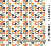 seamless retro pattern in mid... | Shutterstock .eps vector #495335989