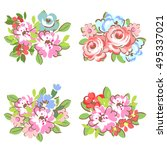 flower set | Shutterstock . vector #495337021