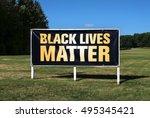 horizontal image of a billboard ... | Shutterstock . vector #495345421
