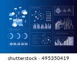 security virtual interface .... | Shutterstock . vector #495350419