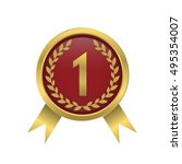 first place icon golden number... | Shutterstock .eps vector #495354007