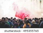 milan  italy   october 7  2016  ... | Shutterstock . vector #495355765