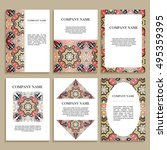 set of business cards. template ...   Shutterstock .eps vector #495359395
