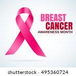 breast cancer awareness pink... | Shutterstock .eps vector #495360724