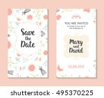 wedding set. romantic vector... | Shutterstock .eps vector #495370225