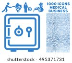 safe icon with 1000 medical... | Shutterstock .eps vector #495371731