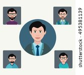 vector male avatar icons set of ... | Shutterstock .eps vector #495381139