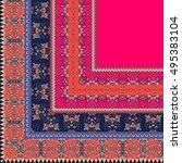 quarter of the ethnic bandana... | Shutterstock .eps vector #495383104