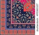 quarter of the ethnic bandana... | Shutterstock .eps vector #495383107