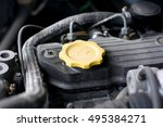 Yellow Engine Oil Cap