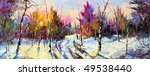 sunset in winter wood | Shutterstock . vector #49538440