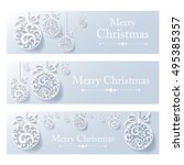 vintage card with christmas... | Shutterstock .eps vector #495385357