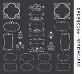 big set of beautiful frames ...   Shutterstock .eps vector #495386161
