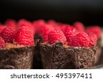chocolate mousse in eatable...   Shutterstock . vector #495397411