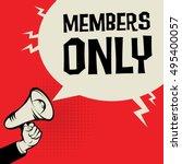 megaphone hand  business... | Shutterstock .eps vector #495400057