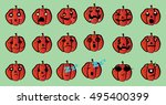 pumpkin icon element set for... | Shutterstock .eps vector #495400399