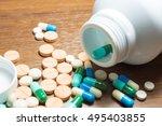 closeup of medical capsule or