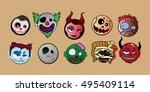 halloween character monster...   Shutterstock .eps vector #495409114