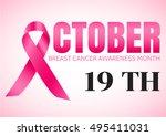 breast cancer october awareness ... | Shutterstock .eps vector #495411031