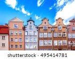 colorful houses in gdansk ... | Shutterstock . vector #495414781