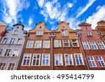 colorful houses in gdansk ... | Shutterstock . vector #495414799