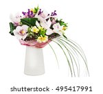 bouquet from orchids in white... | Shutterstock . vector #495417991