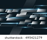 abstract background  technology ... | Shutterstock .eps vector #495421279